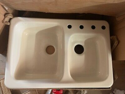 Vintage American Standard Cast Iron Sink 33 X 22 Bone New/Open Box-Price Lowered