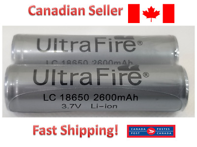 Ultrafire Flashlight 18650 2600 mAh 3.7V Li-Ion Rechargeable Battery - 2 PCS