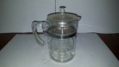 Vintage Pyrex 7826-B 6 Cup Percolator Coffee Pot Complete