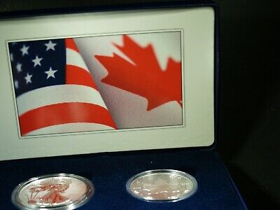 2019 Pride of Two Nations ENHANCED REVERSE PROOF U.S. Silver Eagle + Maple Leaf