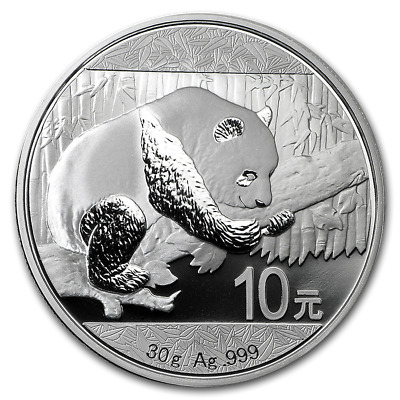 2016 Chinese Panda 1 oz Silver Coin In Mint Capsule
