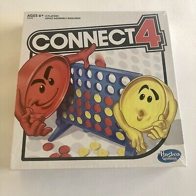 Connect 4 Four Classic Family Fun Fast Paced Board Game Hasbro Brand New Sealed