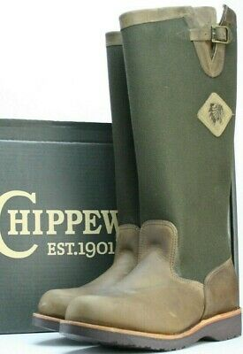 9ce331376a4 NEW CHIPPEWA BOOTS Men's Snake Pull On 17 Inch USA Made Boot Hunting ...