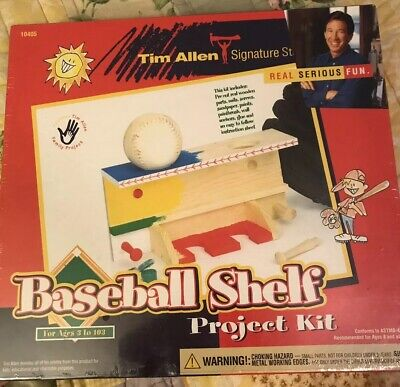 Tim Allen Signature Baseball Shelf Project Kit Ages 8+ Serious Fun! NIB