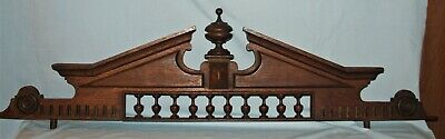 "44"" Wood Architectural Salvage Furniture, Door Pediment w/Spindles & Finial"