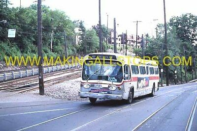 4 orig.slides: Pittsburgh PAT system GM made Fishbowl buses from July 1982 rare