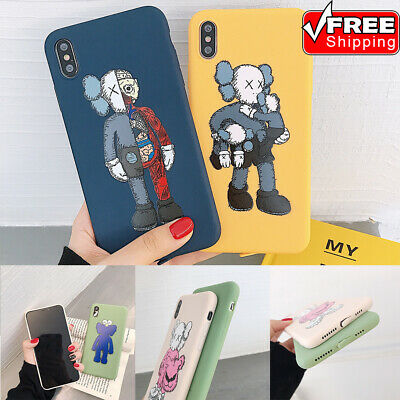 KAWS Pattern Shockproof Ultrathin Soft Silicone Phone Case For iPhone 6s -Xs Max