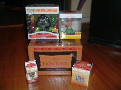 Funko Pop! Disney Treasures Lion King Box~ Complete~ Hot Topic Exclusive~