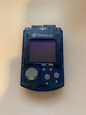 Sega DreamCast Official Visual Memory Aqua Blue Unit card VMU memory card