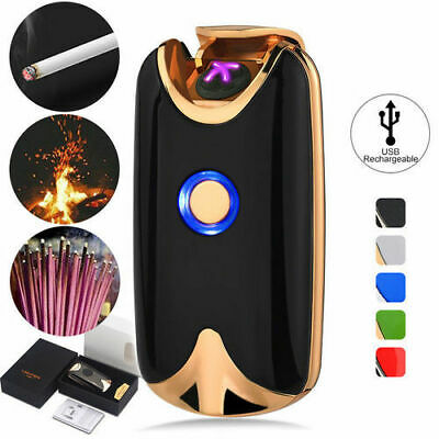Dual Arc Plasma Lighter Electric Flameless Windproof USB Rechargeable Lighters/