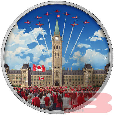 2017 Celebrating CANADA Day-Parliament Building Glow In The Dark 2oz Silver Coin