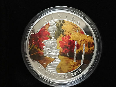 2015 'Autumn Express' Colorized Proof $20 Silver Coin 1oz .9999 Fine