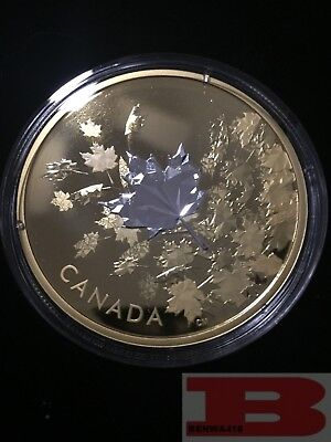 2017 'Whispering Maple Leaves'  Proof $50  3 oz. Fine Silver Coin