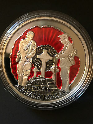 2015 Enameled 'In Flanders Fields' Special-Edition Proof $1 Silver Coin .9999