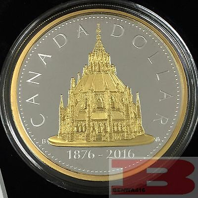 2016 Renewed Dollar Canada # 2 Library of Parliament 2 oz .9999 Silver Big Coin