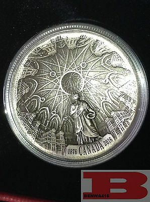 2016 CONCAVE $25 FINE SILVER - 140th ANNIV of the LIBRARY of PARLIAMENT
