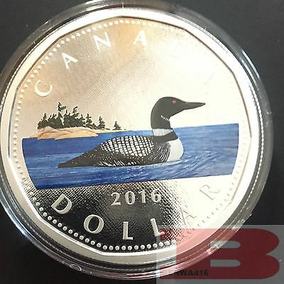 2016 5oz Colorized Loonie -Big Coin Series Proof  1 Dollar .9999 Fine