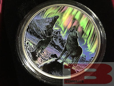 Glow-in-the-Dark Coin – Northern Lights in the Moonlight – $30 / 2oz  (2016)