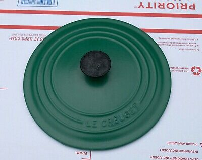 Le Creuset Cast Iron Enamel #22 Covered Lid Only 3.5 Qt. France Green
