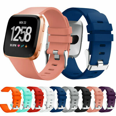 For Fitbit Versa Sport Wrist Watch Band Silicone Wristbands Watch Strap S L Size