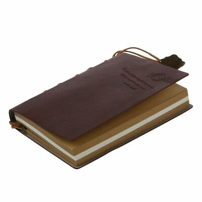 Delicate Cool Classic Vintage Leather Bound Blank Pages Journal Diary Notebo 5M3