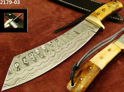 Alistar Superb Handmade Damascus Steel Hunting/Bowie Knife With Sheath 2179-03
