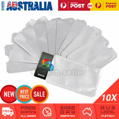 10 x RFID Blocking Card Sleeve Shield Identity Theft Protector Anti Scan Skim AU