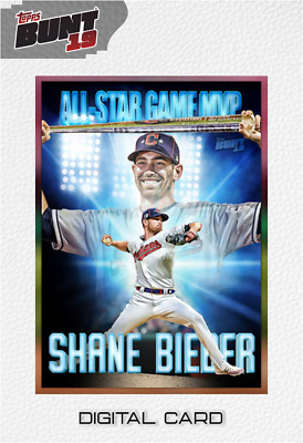 2019 ALL-STAR GAME MVP BASE SHANE BIEBER Topps Bunt Digital Card