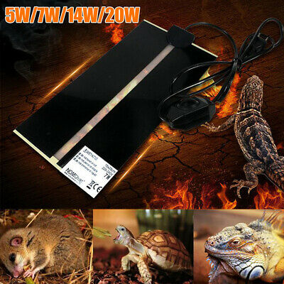 Pet Electric Adjustable Heat Pad Reptile Lizard Heating Mat Warmer Blanket