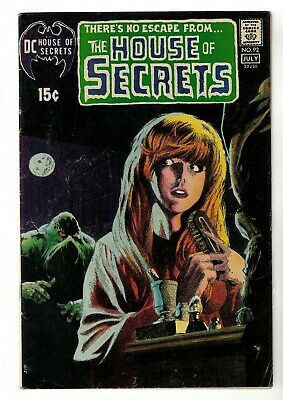 DC COMICS 4.0 VG 1st appearance Swamp Thing House of secrets 92 1971 grey tone