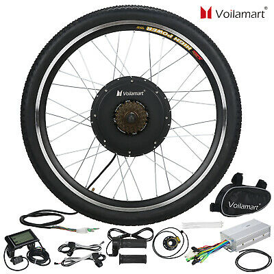 """Voilamart 1000W Electric Bicycle Conversion Kit Rear Wheel EBike LCD Meter 26"""""""