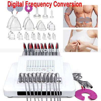 Electric Body Relax Stimulator Massager Tens Pulse Therapy Breast Enhancer Unit
