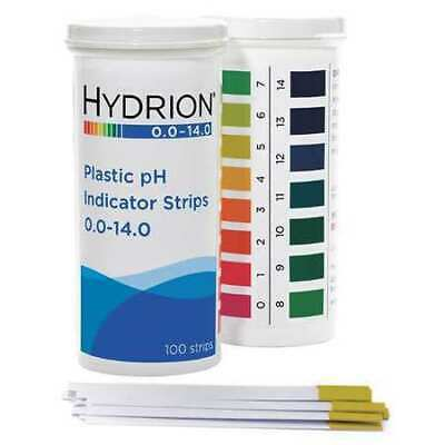 MICRO ESSENTIAL 9800 pH Strips,Hydrion Spectral,0-14,PK100