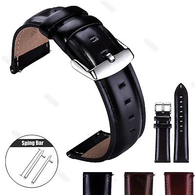 12 13 14 17 18 19 20 22mm Vintage Genuine Leather Wristwatch Band Watch Strap