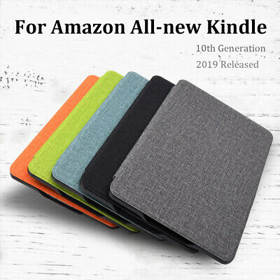 Ultra Slim Case Leather Cloth Texture Cover For Amazon All-new Kindle 10th 2019.