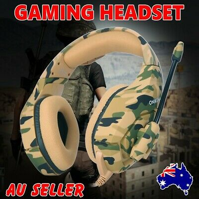 AU ONIKUMA K1 3.5mm Stereo Gaming Headset Headphone for PC Laptop PS4 Xbox One