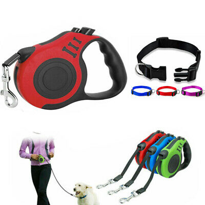 3M/5M Retractable Dog Lead Tape Extendable Leash Pet Puppy Training Walking Rope