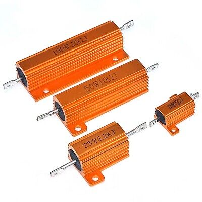50W 100W RX24 Aluminum Metal Shell High Power Case Heatsink Resistor 5% 0.1Ω-1KΩ