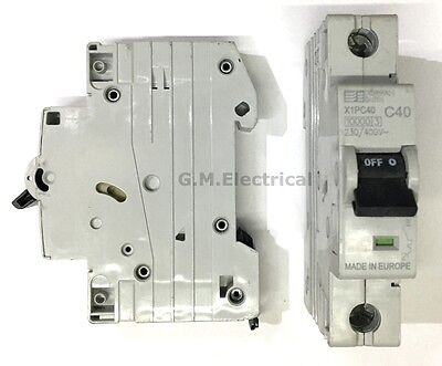 Dorman Smith 40 Amp Type C 40A Single Pole / Phase Mcb / Circuit Breaker X1Pc40