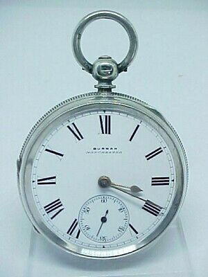 Beautiful Antique Burman Fusee Solid Silver Pocket Watch