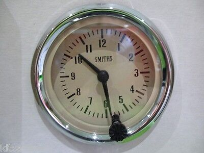 Smiths Analogue Time Clock , 52Mm Magnolia Face With Chrome , Mini , Mg, Gae128M