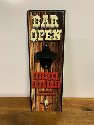 Bar Open Surrender Be Buggered Ned Kelly Wall Bottle Opener Barware