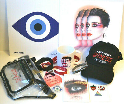Katy Perry Witness The Tour Vip Merchandise Box Lots of Great Rare Items