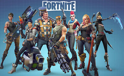 Fortnite Battle Royale Game Canvas Wall Art Silk Print Picture Poster 24x38inch