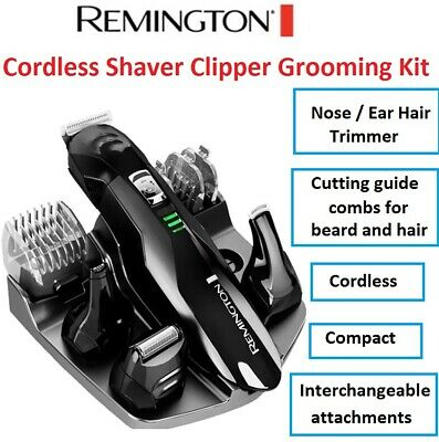 NEW REMINGTON Beard Hair Clipper Shaver Trimmer Cordless Mens Nose Ear Shave