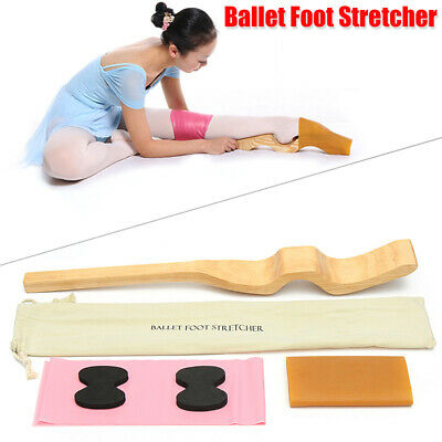 Wooden Ballet Foot Stretch Stretcher Arch Enhancer Elastic Band Dance Gifts NEW