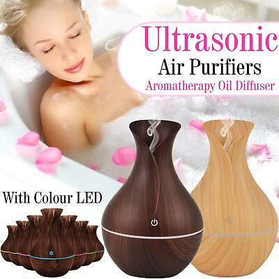 LED 7 Colour USB Ultrasonic Aroma Essential Oil Diffuser Air Purifier Humidifier