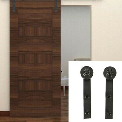 Carbon Steel Sliding Barn Double Door Hardware Kit Inner Rustic Track Accessory