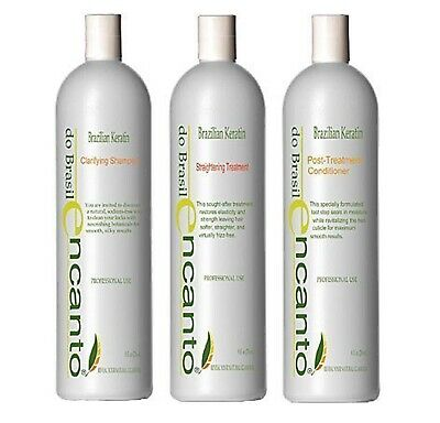 Encanto Brazilian Keratin Treatment Hair Straightening Blowout Mask KIT 3x 100ml