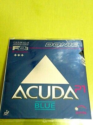 Donic Acuda Blue P1 Table Tennis Rubber () Bllack, 2.0 mm  Brand New